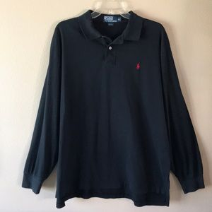 Polo by Ralph Lauren Mens Black Polo Shirt